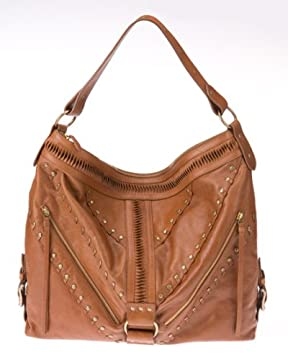 bebe : Panel Leather Shoulder Bag from bebe.com