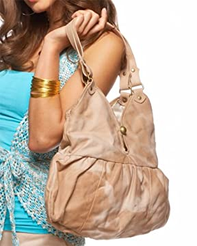 bebe : Distressed Leather Hobo from bebe.com