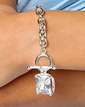 bebe : Crystal Toggle Bracelet from bebe.com