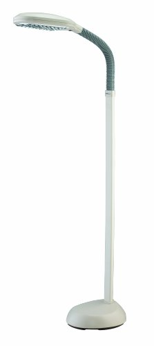 Floor lamp with flat paddle shaped bulb area that has a full spectrum bulb