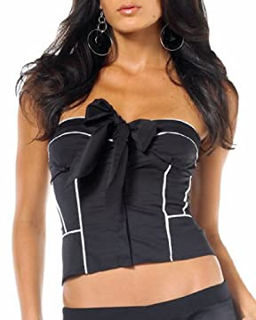 bebe : Bow Front Tube Top :  tube bebe clothing spandex