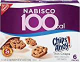 100 Calorie Chips Ahoy! Thin Crisps Baked Chocolate Chip Cookie Snacks, 6 Count (Pack of 6)