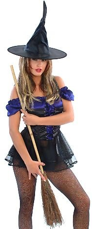 Witchy Poo - Womens Sexy Witch Halloween Costumes Lingerie Outfit