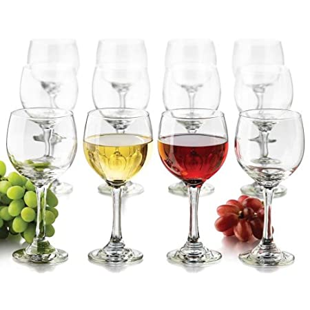 Party Wine Glasses Set Of 12 With Storage Box