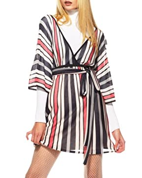 Striped Kimono Sweater dress