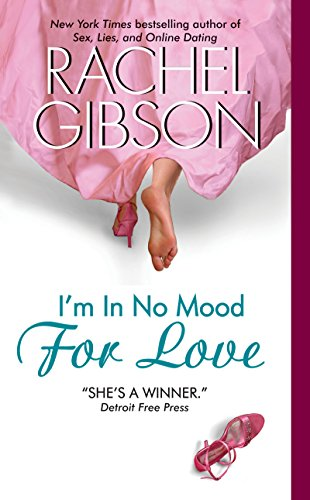 Book I'm in No Mood for Love - a pair of feet walking away from the reader from under a big long pink skirt, with one shoe off