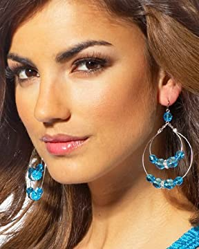 bebe.com : Beaded Hoop Earrings :  womens bebe earrings accessories