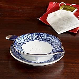 The Bombay Company Store: Grace Blue and White Tea Strainer