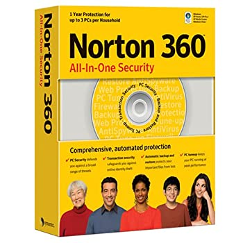 Norton 360 All-In-One Security (Protects 3 Computers- Vista Compatible)