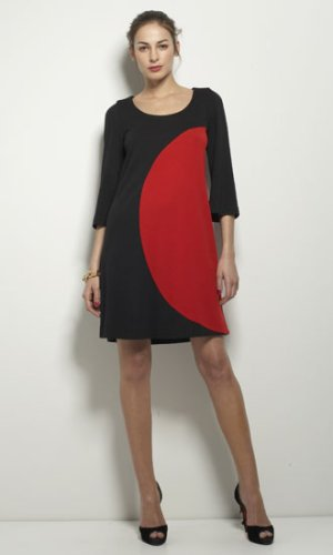 Luna Dress in Black & Red - DIANE von FURSTENBERG