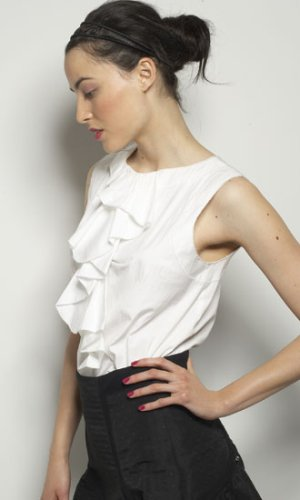 George Top in White or Black - DIANE von FURSTENBERG