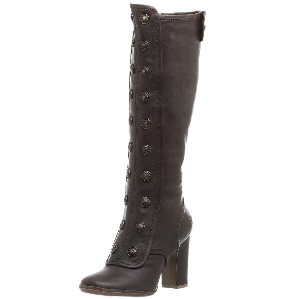 FRYE Adrienne Button Tall Boot - Free Overnight Shipping & Return Shipping: Endless.com :  retro military shoes boots