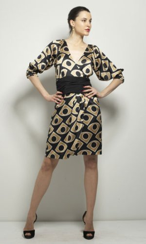 Dvf Dress Outlet Lanii Wrap Dress in Large Fan