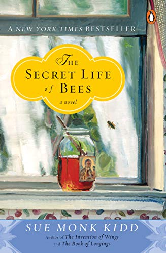 Book The Secret Life of Bees - headshots of the actresses in the film against a yellow honeycomb background