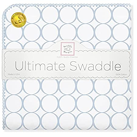 Baby Swaddledesigns Ultimate Receiving Baby Blanket Blue Mod Circles