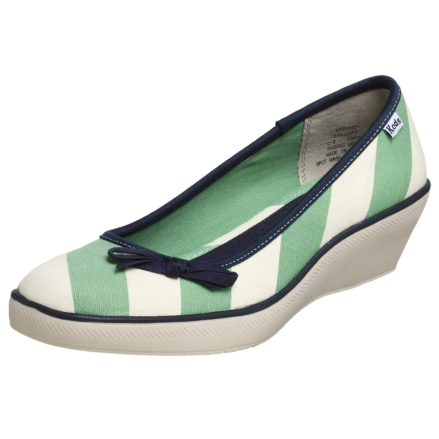 Keds Sailloft Wedge Sneaker - Free Overnight Shipping & Return Shipping: Endless.com :  wedges bow trim stripes