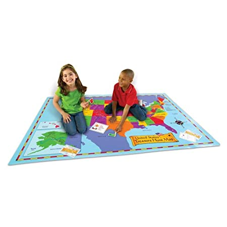 Learning Resources United States Treasure Hunt Map Activity Mat
