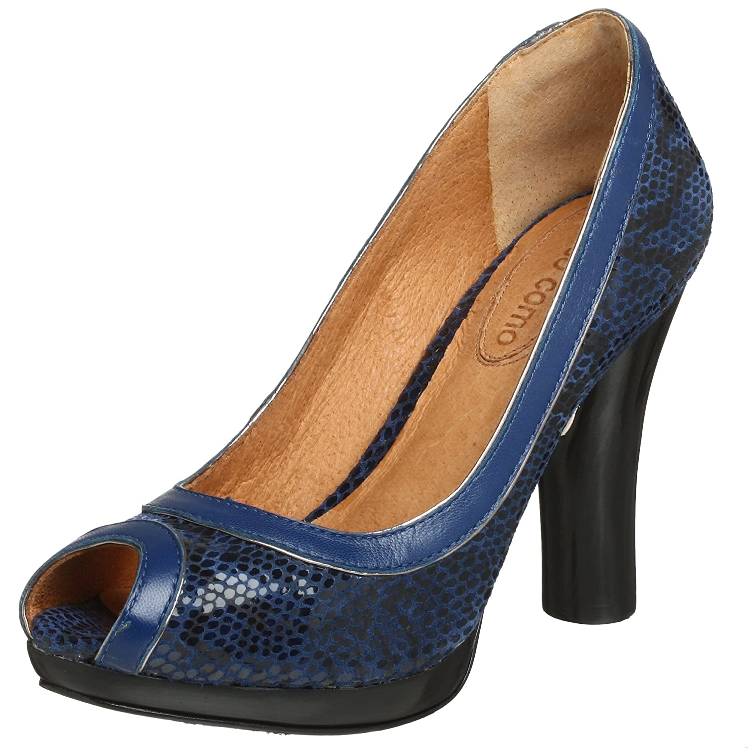 Corso Como Eden Pump - Free Overnight Shipping & Return Shipping: Endless.com :  blue platform pump peep toe