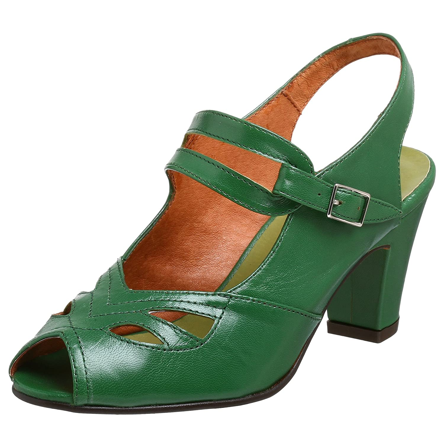 Re-Mix Vintage Women's Anita Sandal - Free Overnight Shipping & Return Shipping: Endless.com :  retro heels leather sole vintage