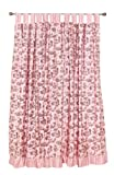 Tadpoles Toile Pair of Curtain Panels Pink Brown