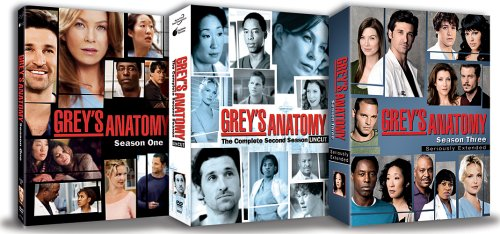 Greys Anatomy - Seasons 1 - 3 DVD