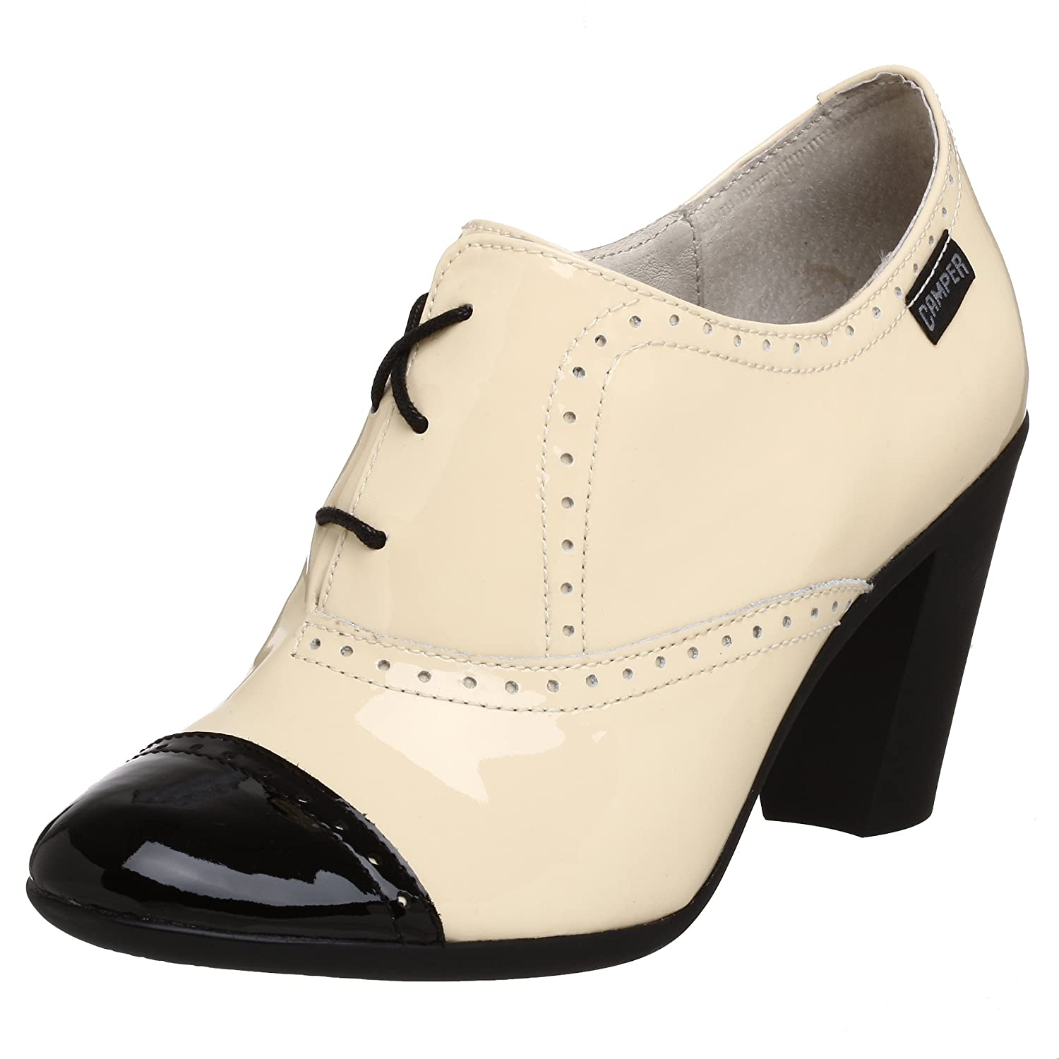 Camper Twins Pump - Free Overnight Shipping & Return Shipping: Endless.com :  high heel spectator round toe retro