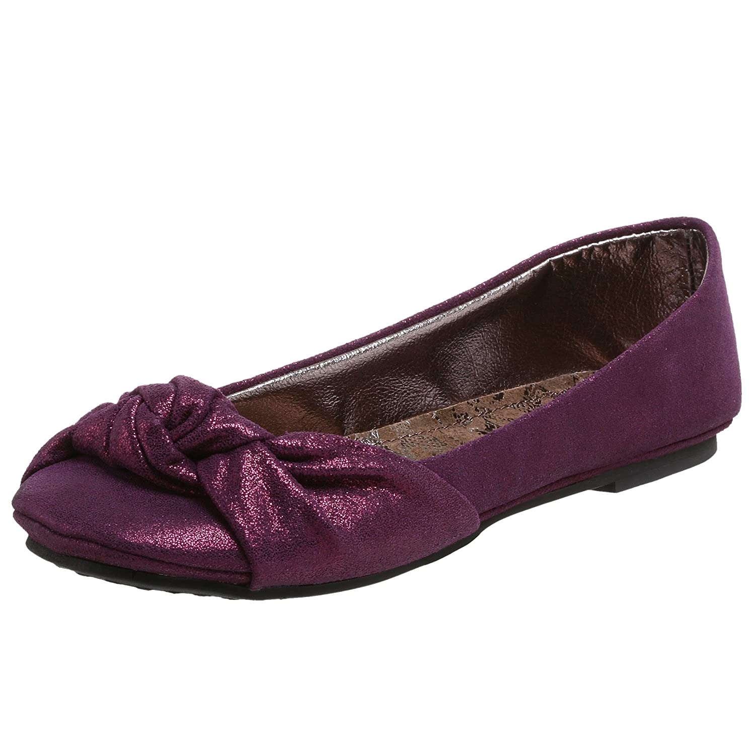 Endless.com: Steve Madden Women's Crunchh Knotted Flat: Categories - Free Overnight Shipping & Return Shipping :  purple womens shoes flats steve madden