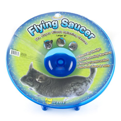 Ware Flying Saucer Small Pet Exercise Wheel, Large, 12-Inch, Colors may vary