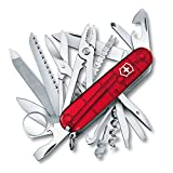 Victorinox Swiss Army SwissChamp Pocket Knife, Ruby
