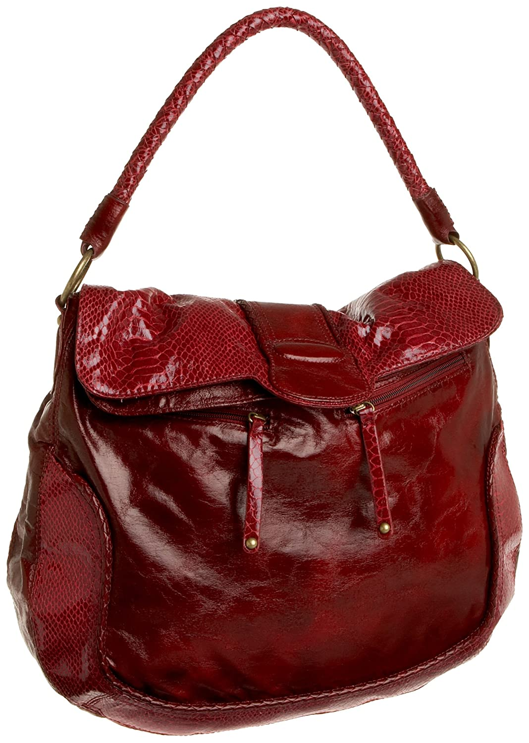 SR SQUARED by Sondra Roberts Distressed Flap Hobo from endless.com