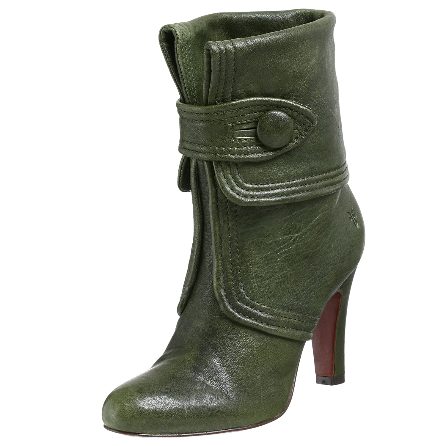 FRYE Ava Button Bootie - Free Overnight Shipping & Return Shipping: Endless.com :  ankle boot ladylike fold over cuff heels