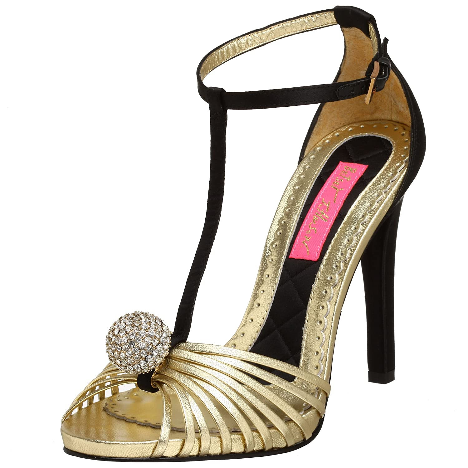 Betsey Johnson Women's Ranae T-Strap Sandal - Free Overnight Shipping & Return Shipping: Endless.com from endless.com
