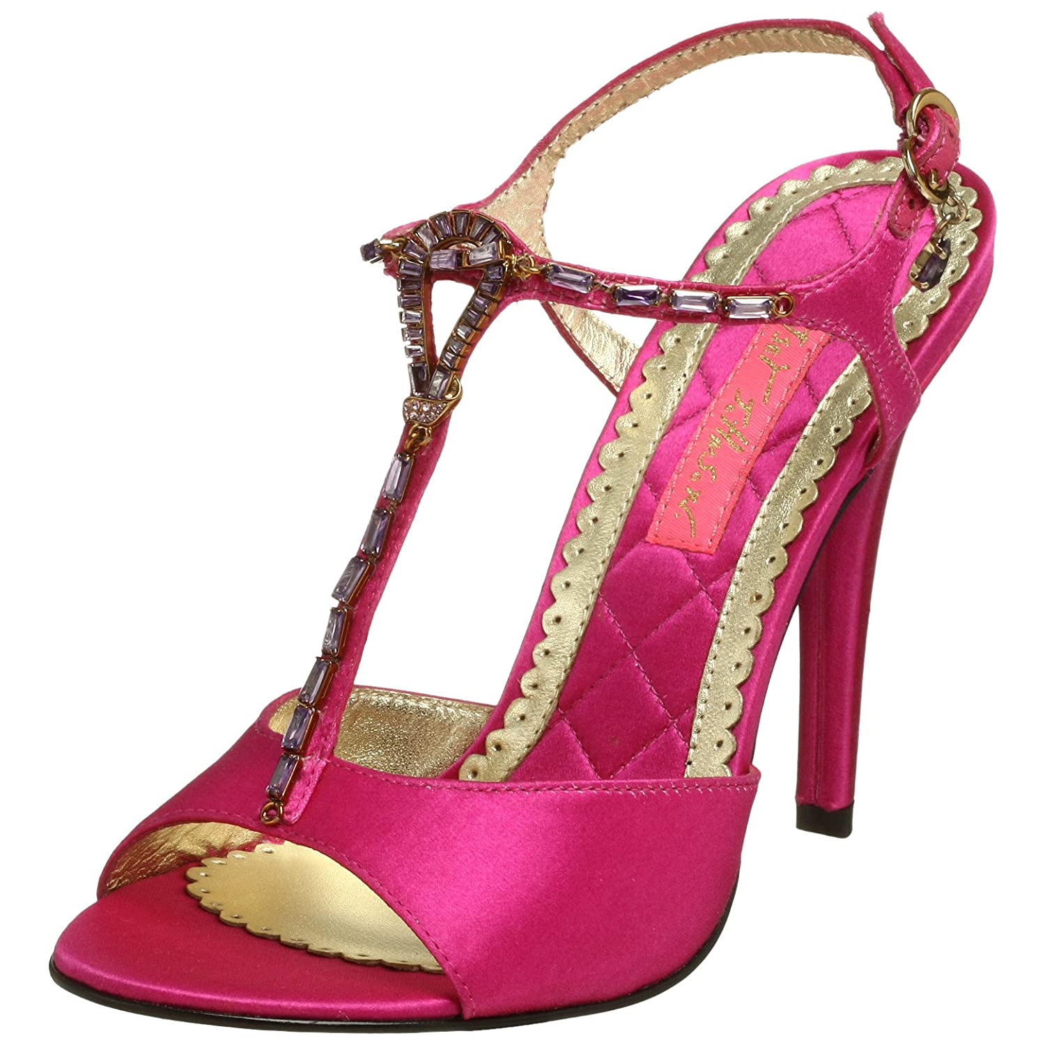 Betsey Johnson Women's Randilyn T-Strap Sandal - Free Overnight Shipping & Return Shipping: Endless.com :  high heel sandals shoe shoes