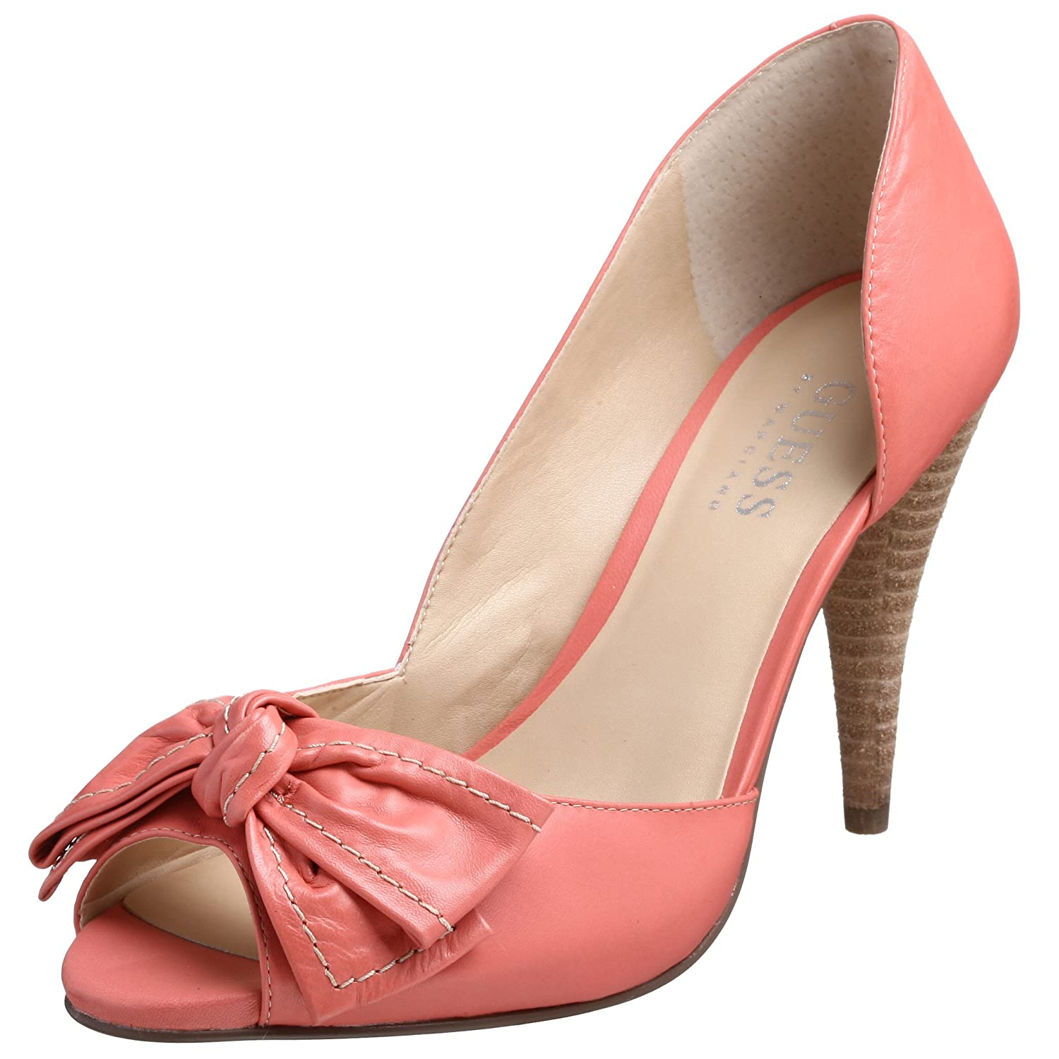 GUESS Women's Syria Bow Detail Pump - Free Overnight Shipping & Return Shipping: Endless.com :  heel