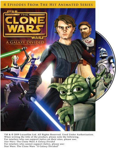 Star Wars: The Clone Wars - A Galaxy Divided  DVD
