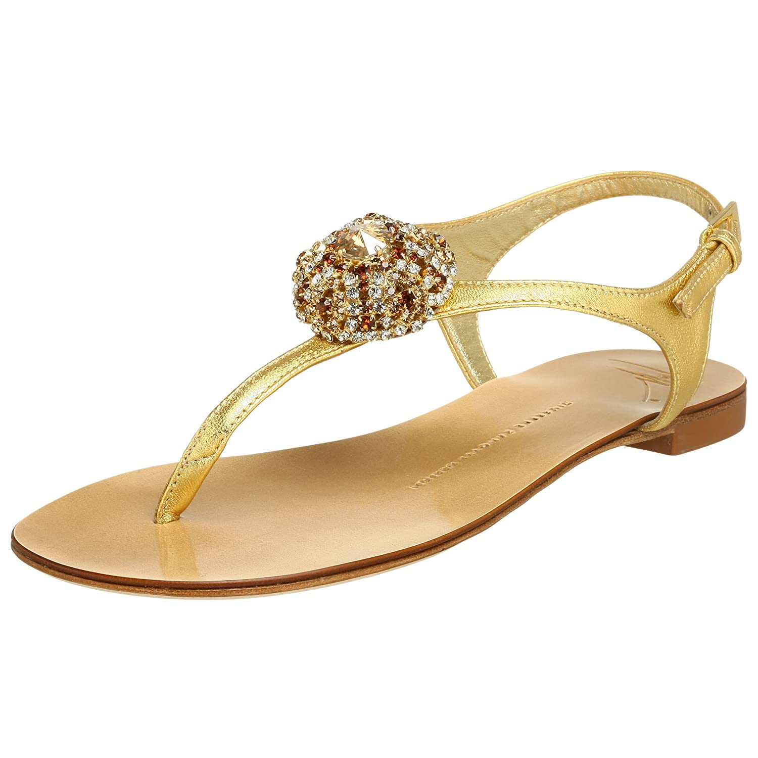 Giuseppe Zanotti Women's E90051 Sandal - Free Overnight Shipping & Return Shipping: Endless.com :  sandal gold summer shoes