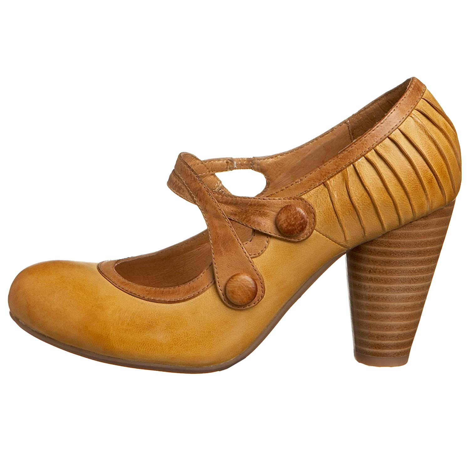 Miz Mooz Sensei Pump :  tan retro heels shoes