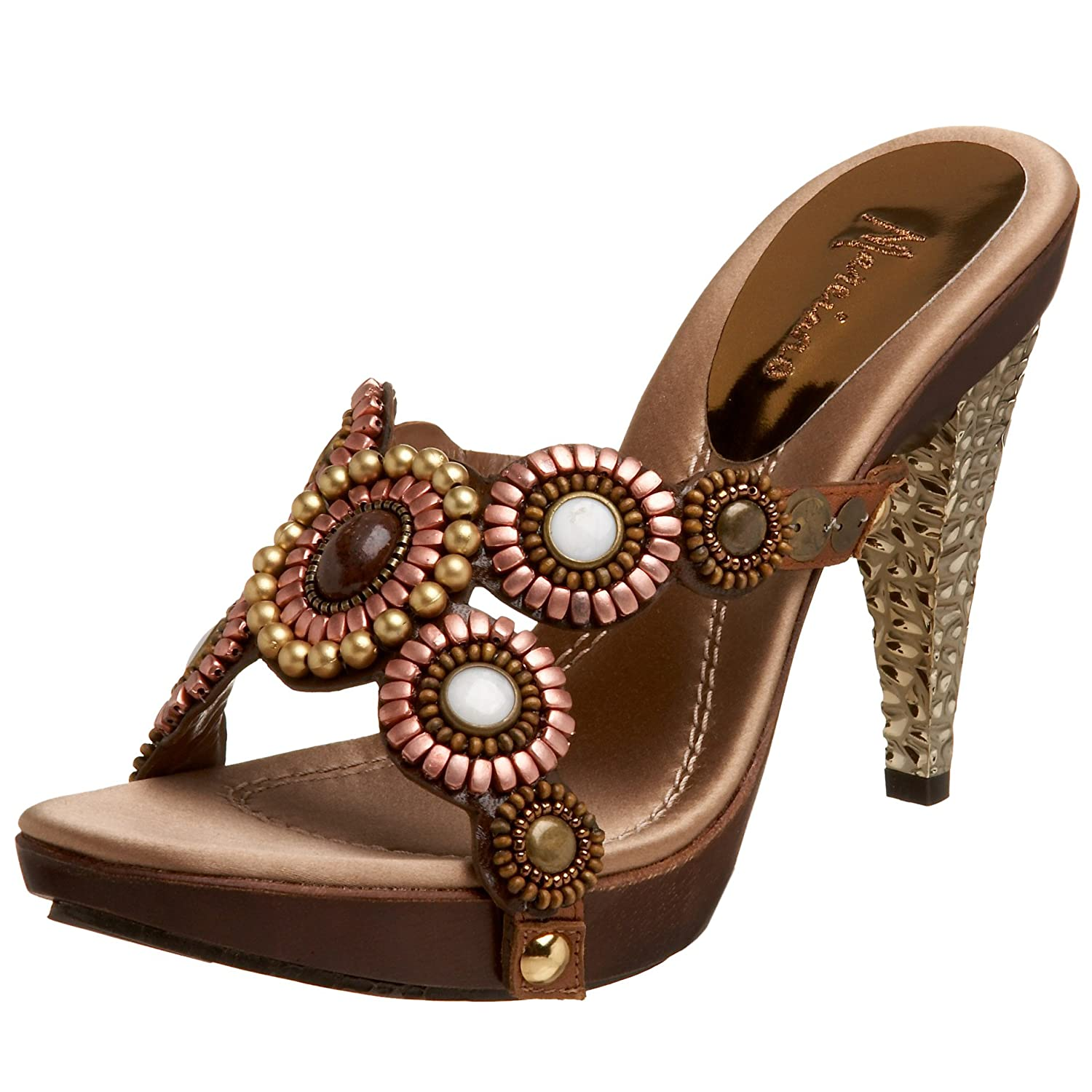 Marciano Taylor Sandal :  gemstone shoes brown metallic