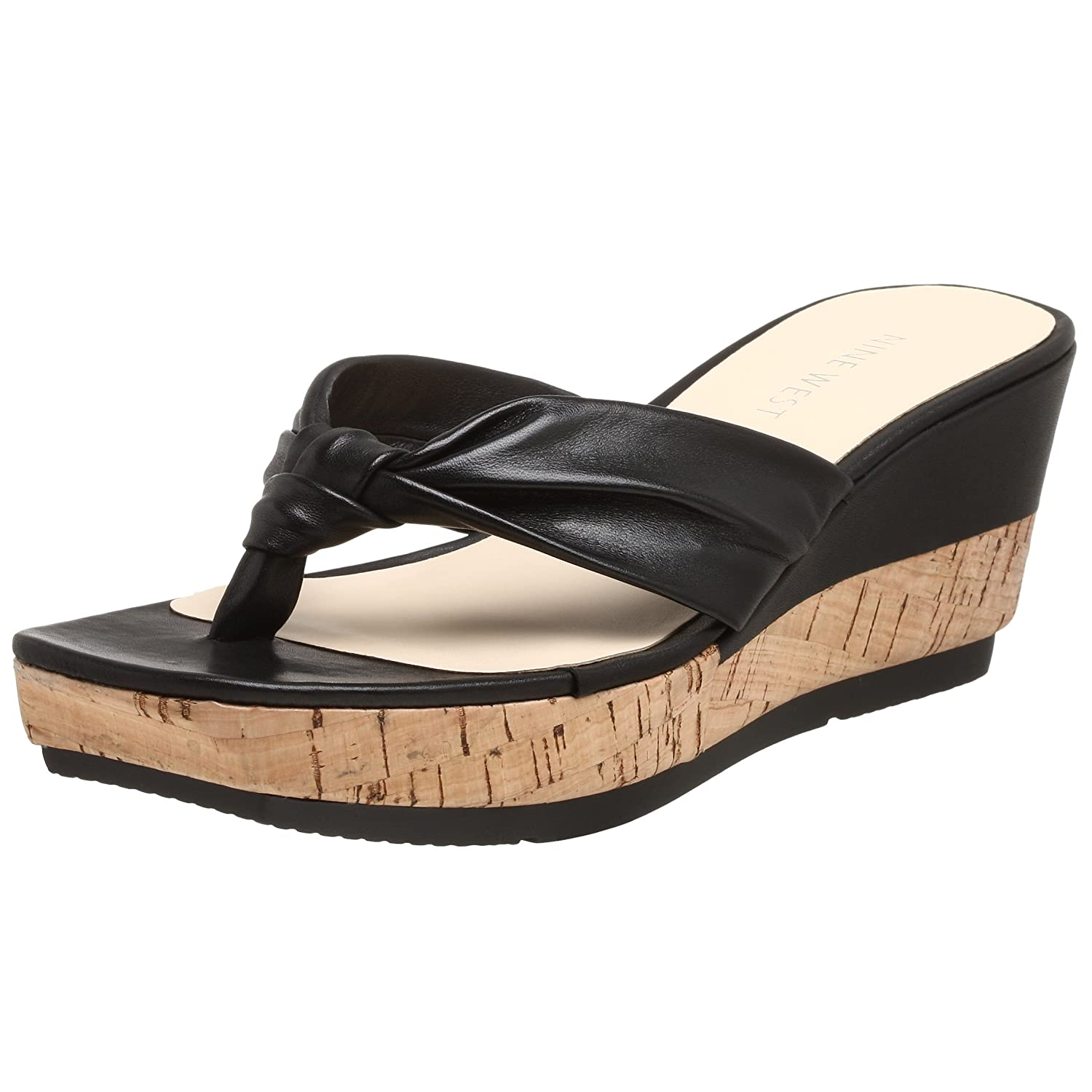Nine West Women's Zarend Wedge Platform Thong - Free Overnight Shipping & Return Shipping: Endless.com :  platform sandals shoe shoes