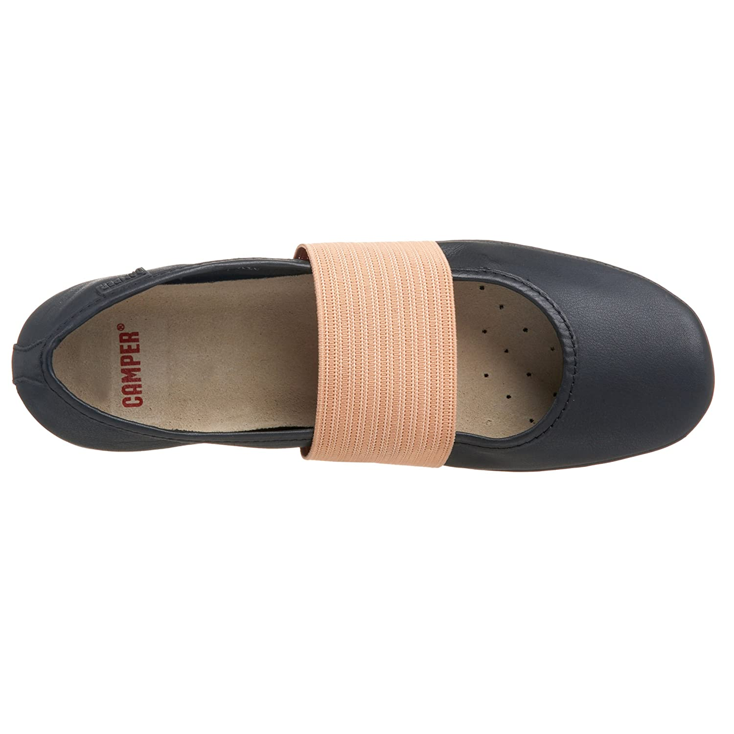 Camper Right Ballet Flat - Free Overnight Shipping & Return Shipping: Endless.com :  split sole flats shoes elasticized