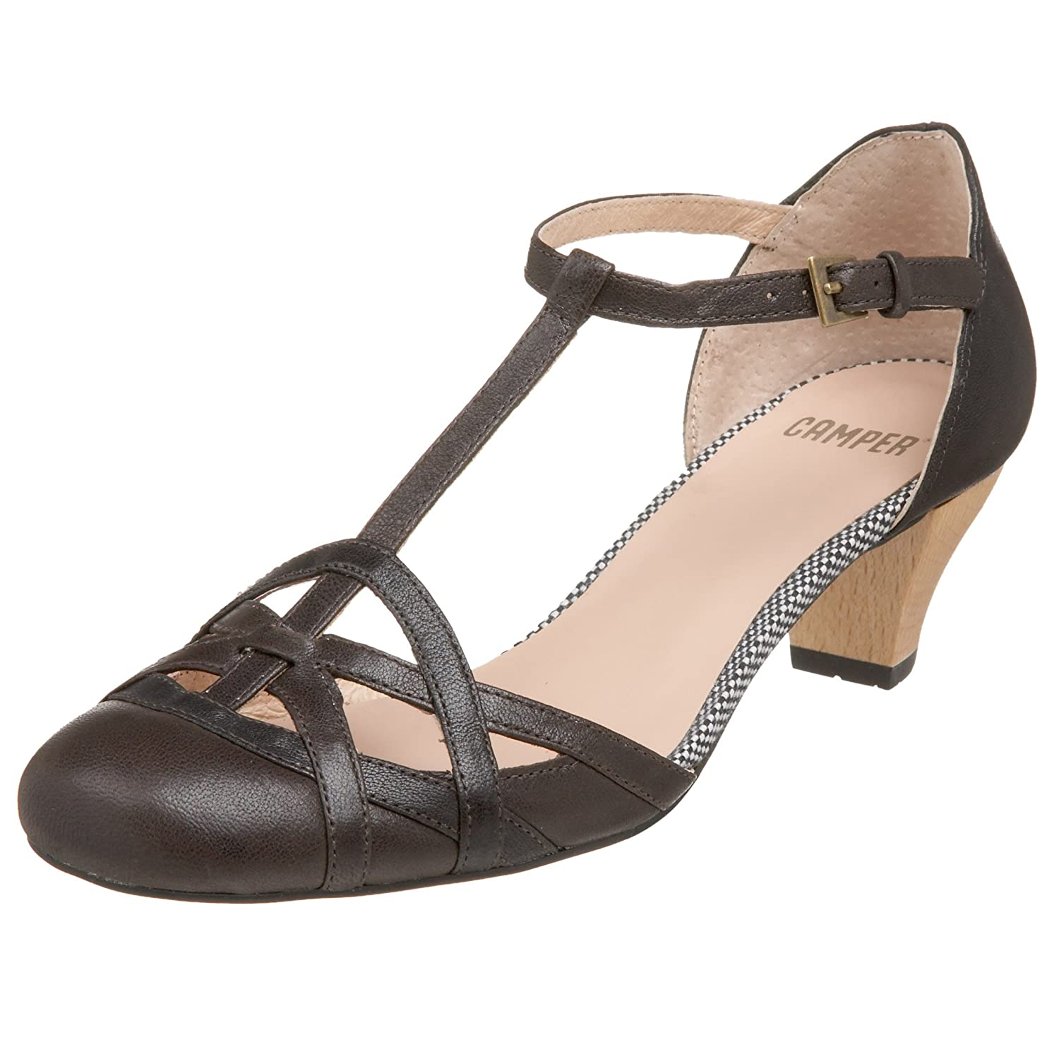 Camper 20927-005 Ous Wedge - Free Overnight Shipping & Return Shipping: Endless.com :  t-strap heels sandals ankle strap