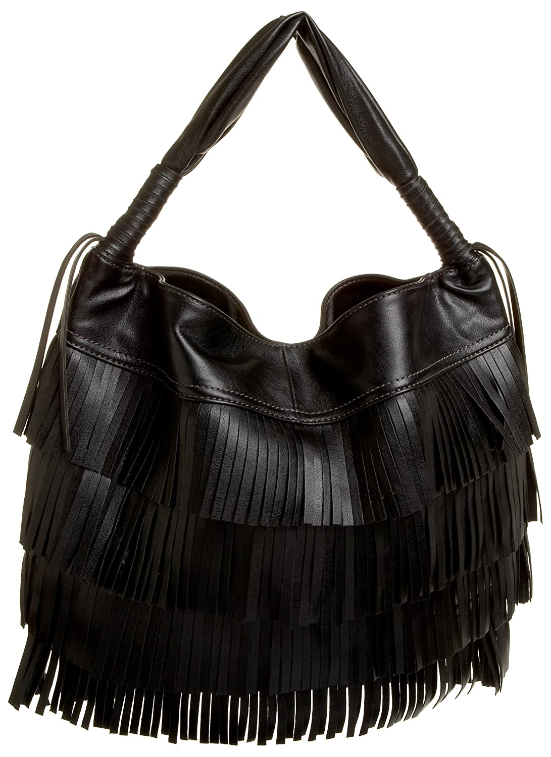 Melie Bianco Fringe Hobo - Free Overnight Shipping & Return Shipping: Endless.com :  fringed return accessories hobo