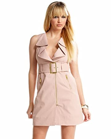 bebe.com Drape Collar Tank Trench Dress  from bebe.com