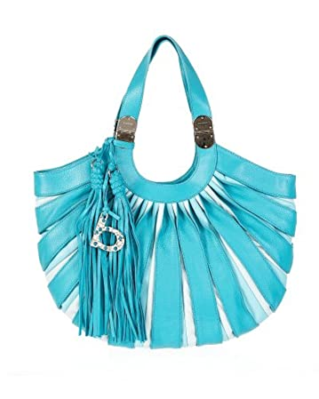 bebe Ombre Pleated Leather Tote from bebe.com