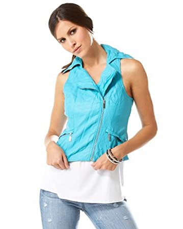 bebe.com Leatherette Washed Moto Vest :  leatherette washed moto vest washed moto white
