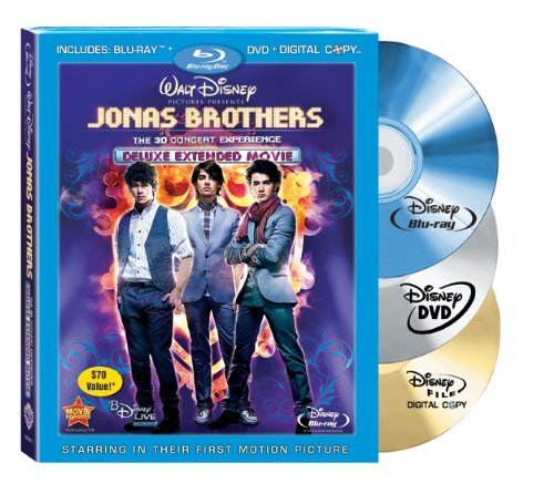 The Jonas Brothers: The 3-D Concert Experience [Blu-ray] DVD