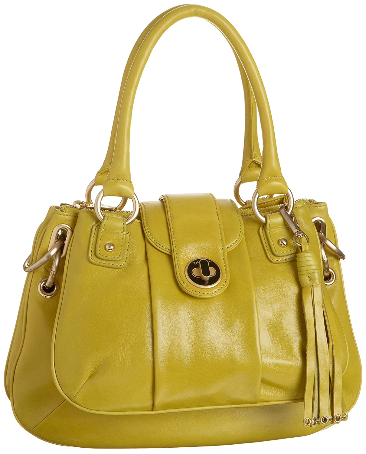 botkier Margot Satchel - Free Overnight Shipping & Return Shipping: Endless.com :  leather lined yellow bag