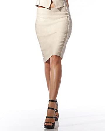 bebe.com Linen Shine Pencil Skirt  :  linen skirt