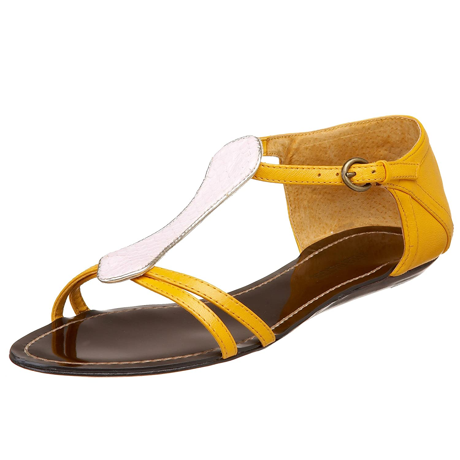 Kelsi Dagger Women's Cara T-Strap Sandal - Free Overnight Shipping & Return Shipping: Endless.com :  sandal buckle yellow flats