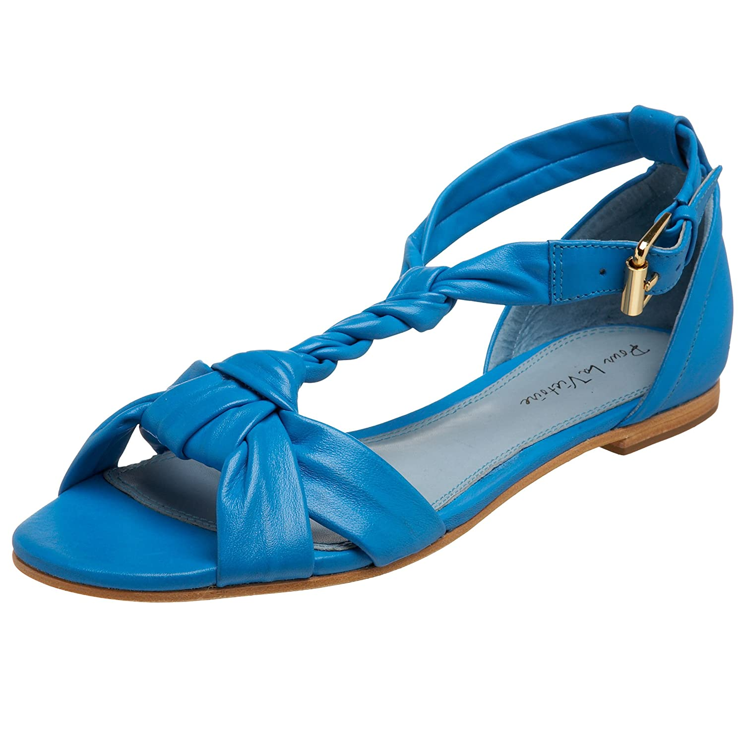 Pour La Victoire Women's Bijan Flat Sandal - Free Overnight Shipping & Return Shipping: Endless.com :  blue pour la victoire flats sandals